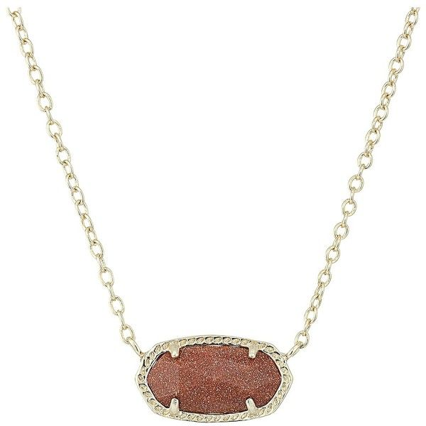 Kendra Scott Elisa Pendant Necklace (Gold/Orange Goldstone) Necklace ($50) ❤ liked on Polyvore featuring jewelry, necklaces, gold chain pendant, 14 karat gold necklace, gold necklace, adjustable chain necklace and gold chain necklace