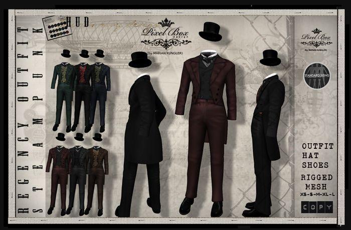 PIXEL BOX - Steampunk Mens Regency (B)
