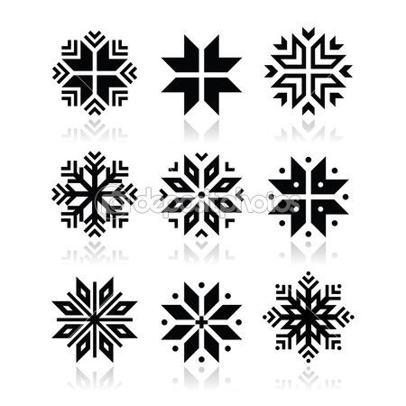 Boże Narodzenie, zima płatki śniegu wektor zestaw ikon — Ilustracja stockowa #35260461