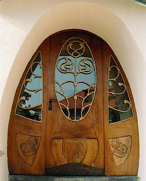 Art Nouveau door on the House Muller in Darmstadt, Germany. @Deidré Wallace