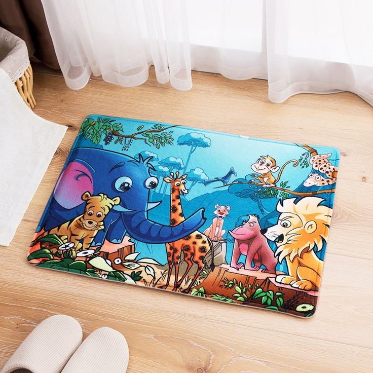 3D Carpet High Quality Cartoon Floor Carpet For Living Room Entrance Mats Bedroom Rug Water Absorption Bathroom alfombras 40x60