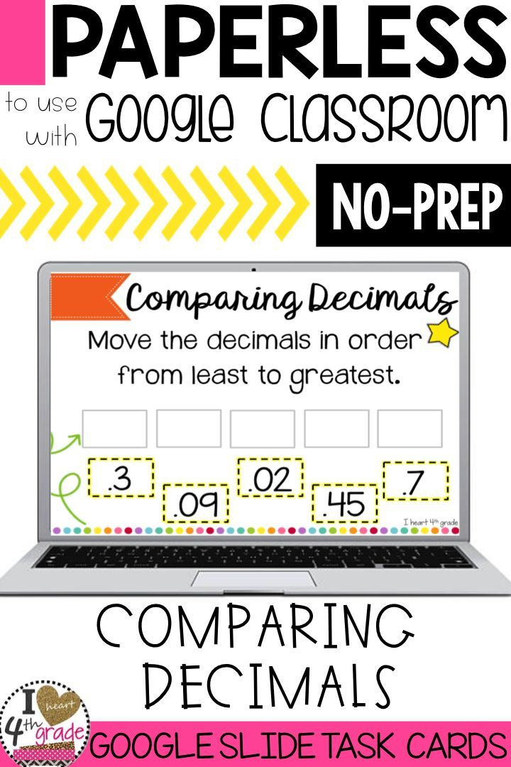 Comparing Decimals | Decimals for 4th grade | 4th grade math | 4th grade fraction math centers | math centers | This set of problem solving tasks is aligned to 4th grade decimal standards and ready to share with students on Google Classroom. ($)