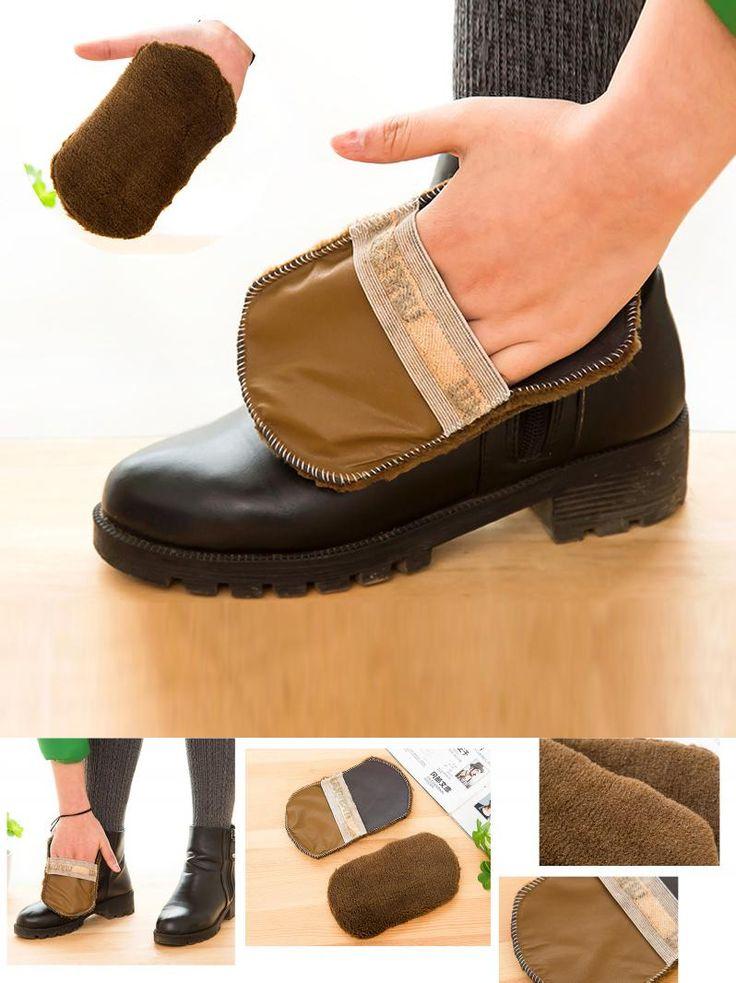 [Visit to Buy] 1 Pcs Fashion Soft Wool Plush Suede Shoes Cleaner  Polishing Shoe Care Brush Shoe Gloves Wipe Shoes Mitt #Advertisement