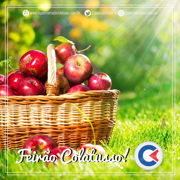 Hoje é dia de Feirão aqui no Supermercado Colatusso, venha para aproveitar nossas ofertas incríveis... 🍎🍎🍎 https://www.facebook.com/colatusso.supermercado/videos/900677566748261/