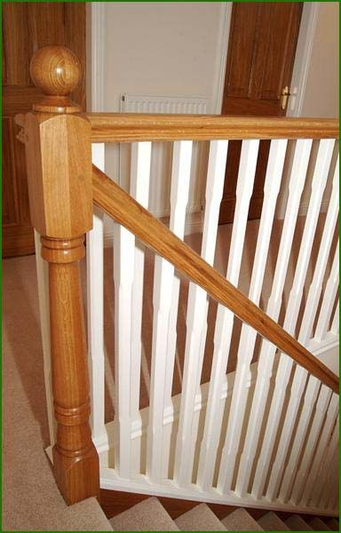Oak and White Spindle Staircase