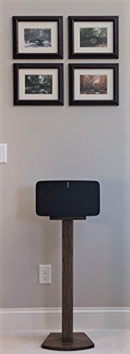 "Beautiful Dark Walnut SONOS PLAY 5 (2nd Generation) Wood Speaker Stand. Unlike speakers designed for the previous generation of PLAY 5 and many ""universal"" speakers, these speakers are custom designed for SONOS PLAY 5 (2nd Generation) and built for function and aesthetics. Top plate... see more details at https://bestselleroutlets.com/home-kitchen/furniture/game-recreation-room-furniture/product-review-for-beautiful-wood-speaker-stand-handcrafted-for-sonos-play-5-2n"