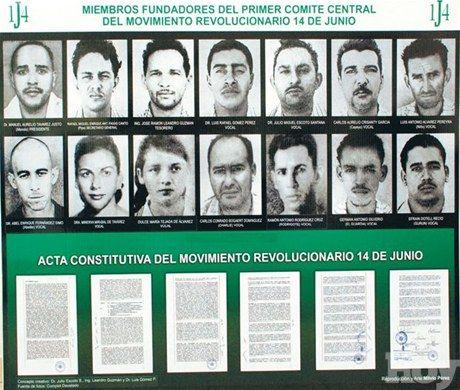 Fundadores y acta de constitución del Movimiento Revolucionario 14 de Junio