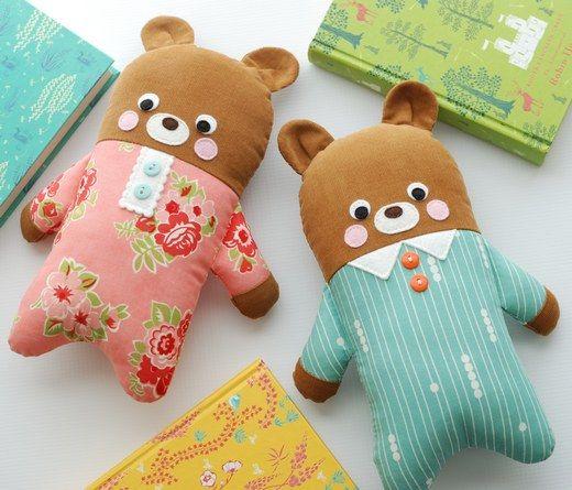 Pajama bears from Retro Mama Scrap Happy Sewing