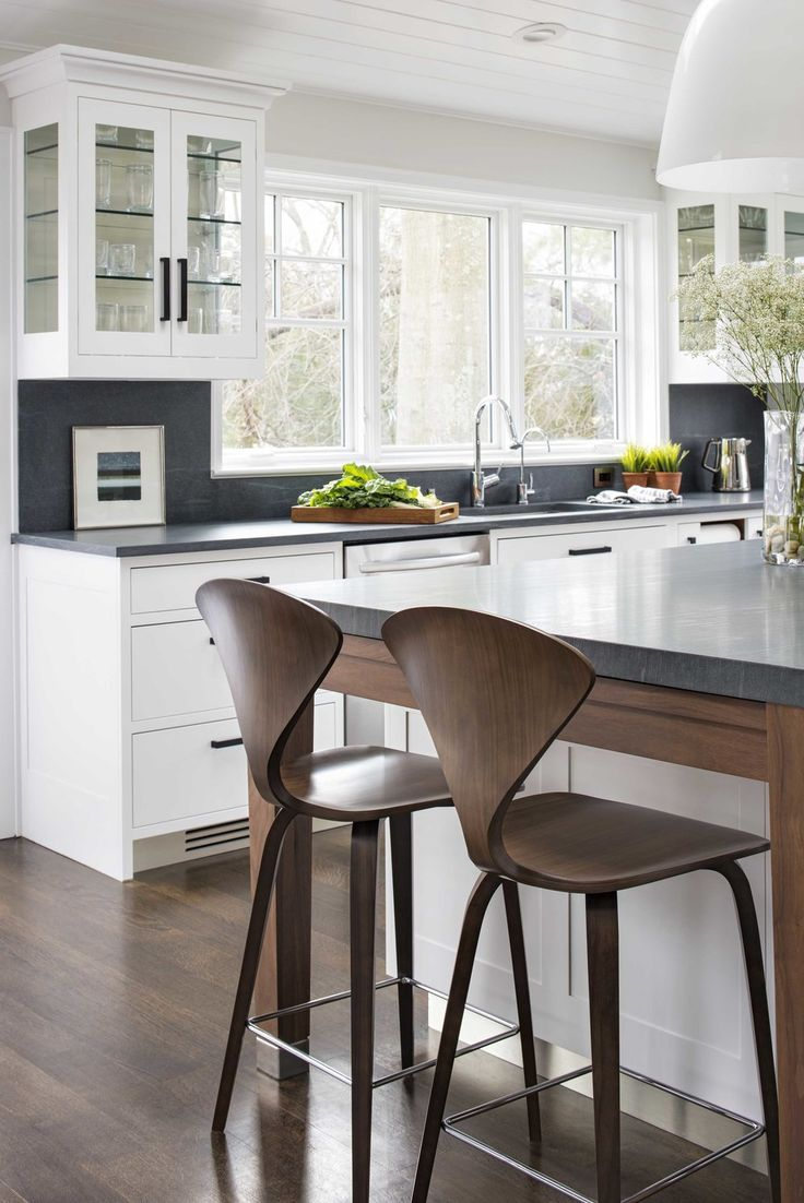 Modern kitchen design with minimalistic wooden bar stools | Studio Dearborn & Best 25+ Modern bar stools ideas on Pinterest | Bar stool Modern ... islam-shia.org