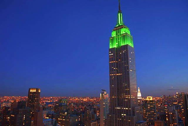 empire state building St Patrick's Day