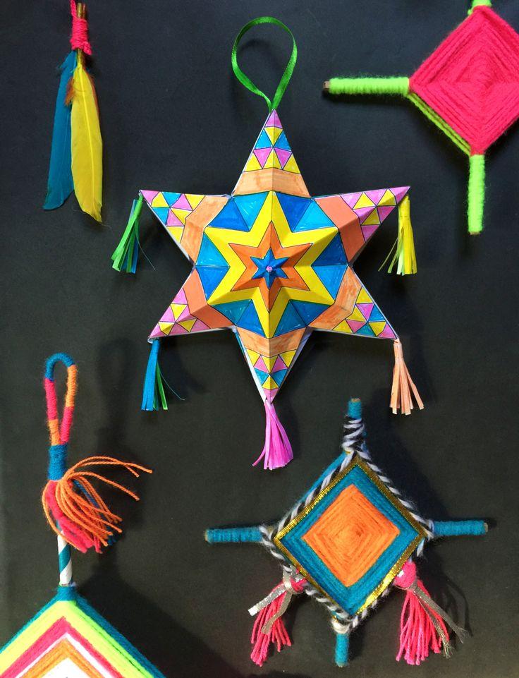 Paper stars and Ojo de Dios tutorials for Cinco de Mayo at ...