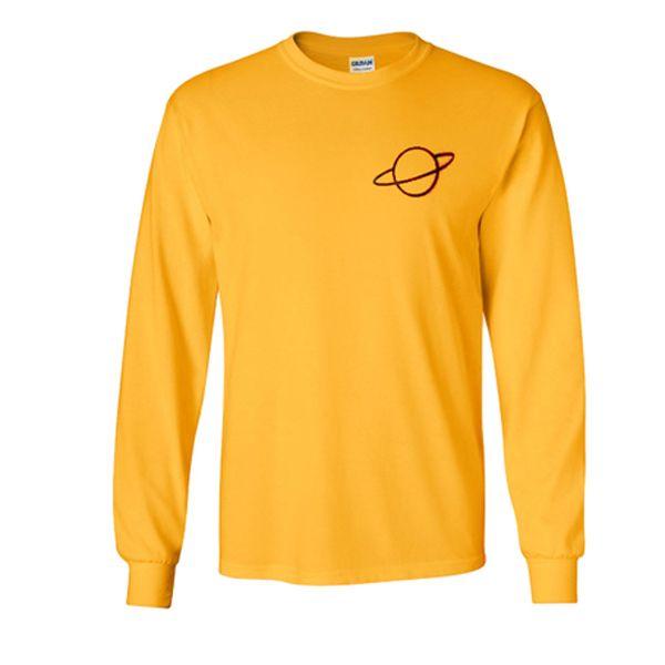 planet yellow sweatshirt