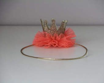 Corona de recién nacido 1er cumpleaños corona diademas