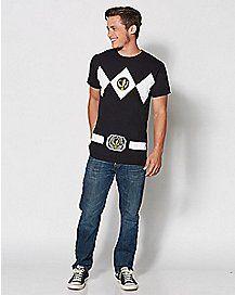 Power Rangers T Shirt - Black
