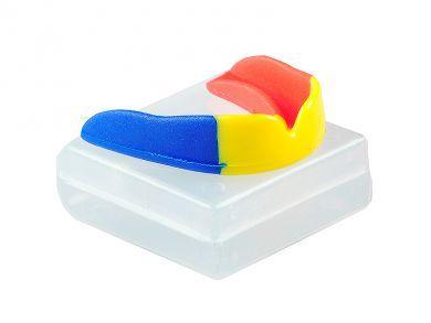 proteza dentara box Knockout Store model tricolor. Gama de proteze dentare de box este variata si vine cu garantie 30 zile.