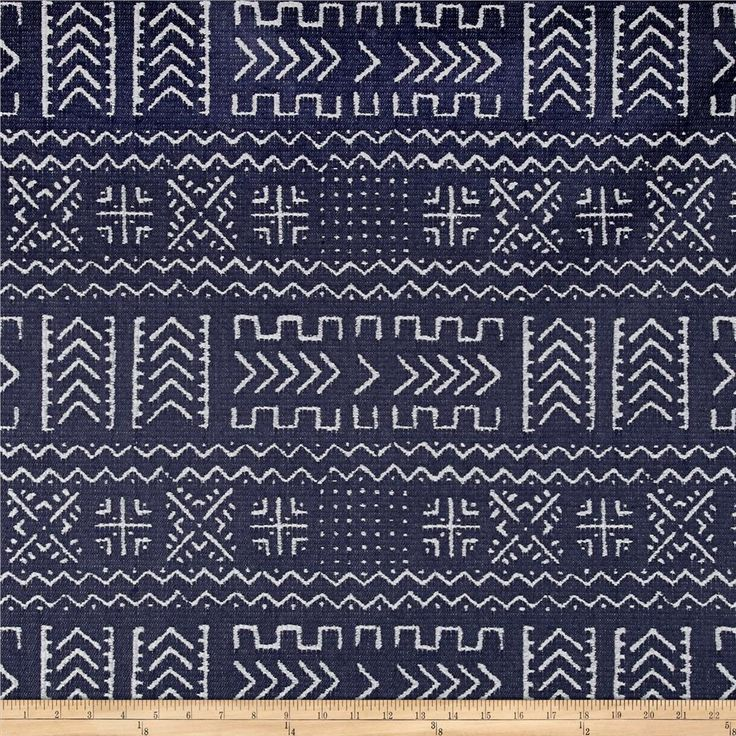 Covington Mazinda Tribal Jacquard Navy from @fabricdotcom  From Covington Fabrics, this very heavyweight (approximately 13.5 ounces per square yard) jacquard fabric is perfect for revitalizing your home with upholstery projects like headboards, ottomans and more! Colors include blue and grey.