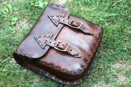 Handcrafted Leather Bag by artisan Kay Buchanan