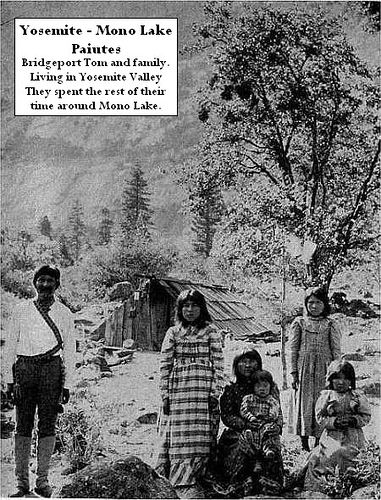 Yosemite Indian history - Bridgeport Tom and Family in Yosemite Valley - Paiute Indian people by Yosemite Native American, via Flickr