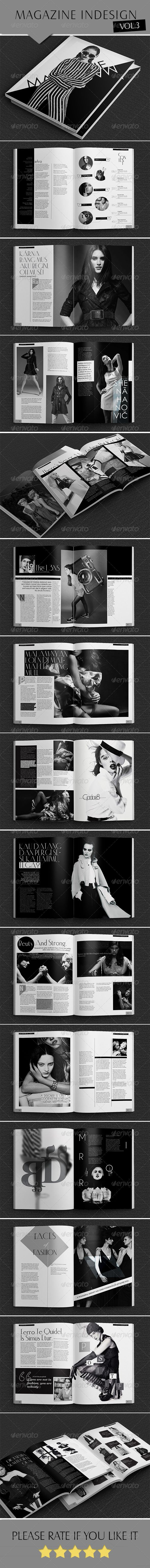 Indesign B/W Magazine