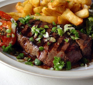 Steak and Chips heaven on a plate