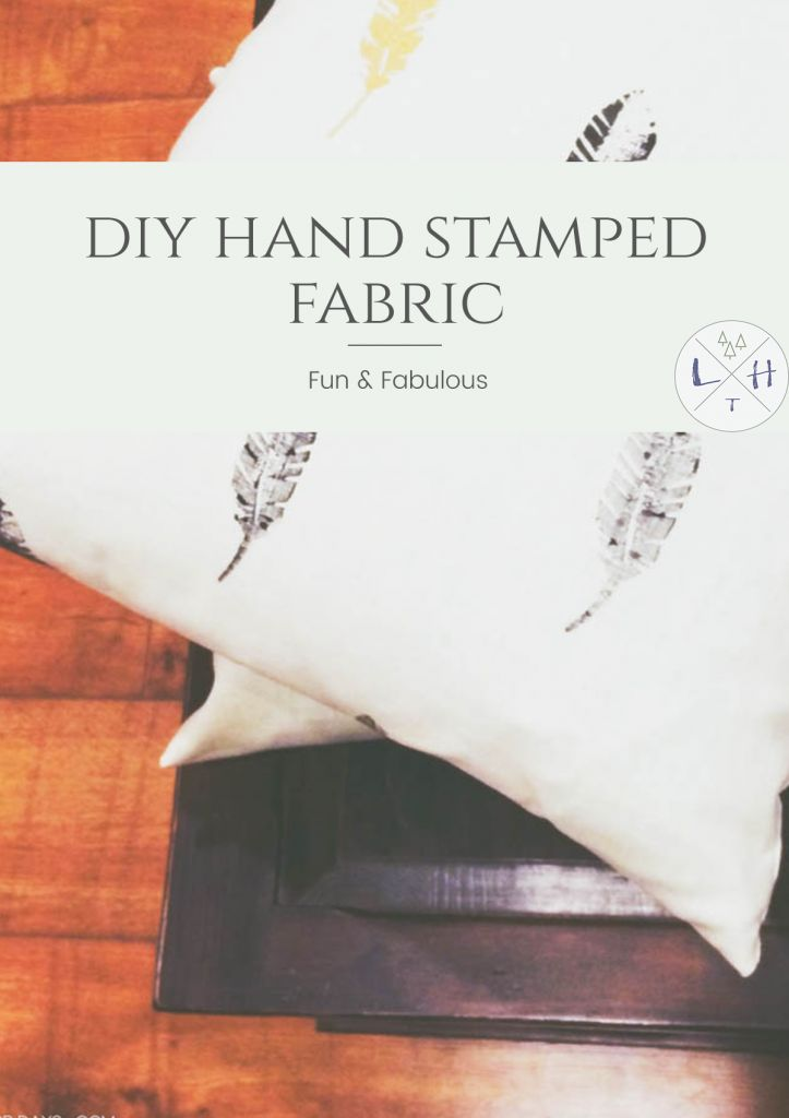 One of the best things about this project is how natural this Hand Stamped fabric looks finished! It is perfect for your fall look in your home. via @lavenderhytta