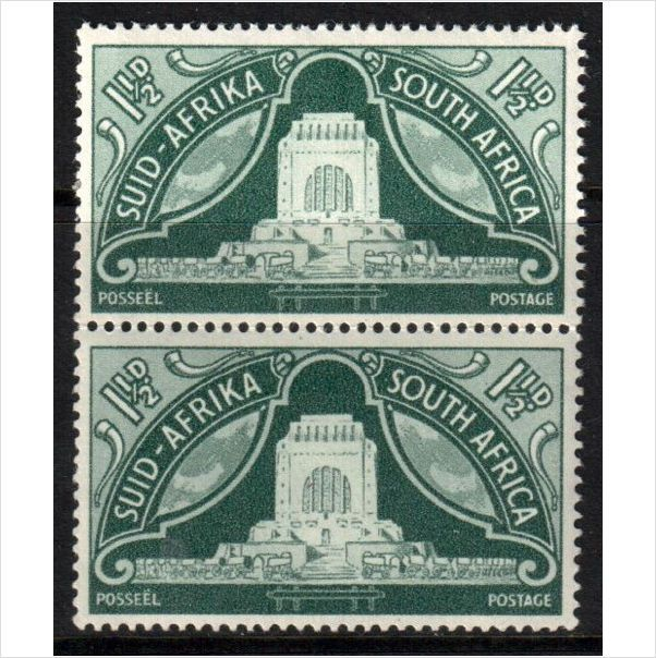 South Africa Scott 113 - SG132, 1949 1.1/2d Pair MNH** stamps sur le France de eBid
