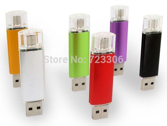 Мини USB Flash Drive 64 ГБ OTG USB 2.0 Флешки Высокая Скорость металл USB ФЛЭШ-Накопитель Индивидуальный Логотип USB Флэш-Накопитель 64 ГБ