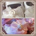 Scarpine con farfalla per neonato 03 mesi bianco rosa