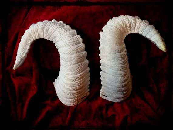 DIY Ram/Goat Horns  LARGE by ToxiqueEmporium on Etsy, $17.00