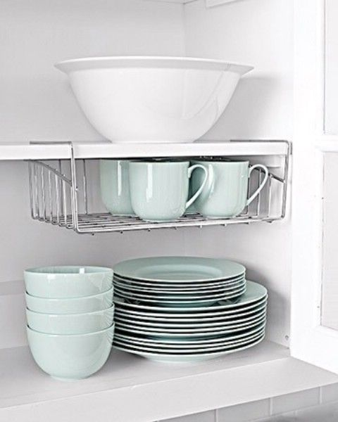 Use Undershelves To Take Advantage of Vertical Space - Top 58 Most Creative Home-Organizing Ideas and DIY Projects