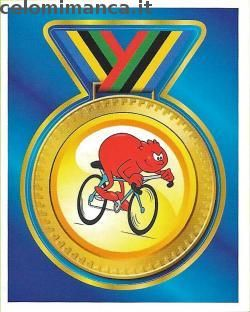Il Corpo Umano Sport e Movimento: Fronte Figurina n. 144 Ciclismo