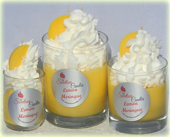 Lemon Meringue Luxury Soy Cupcake Candle by SweetloveCandles, $5.00 +