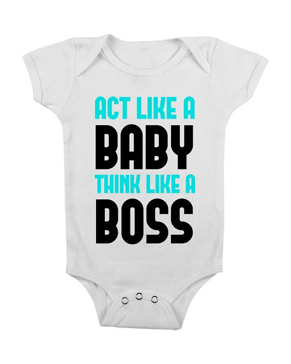 Funny Baby Onesie - Funny Baby Bodysuit - Baby Shower Gift - I'd Flex Dos Boobies - Think Like a Boss Infant Outfit Baby Boy Clothes BL0003