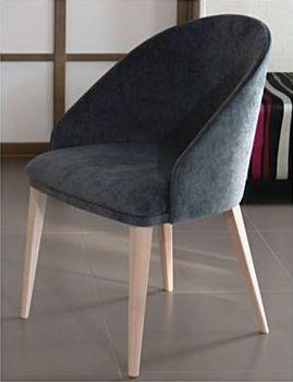 Chaise contemporaine / tapissée / en tissu AZEL Perrouin Sièges