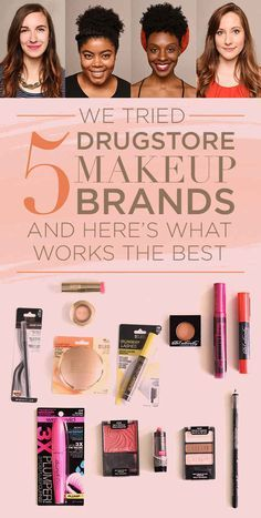 We Tried Five Drugstore Makeup Brands And Here's What Actually Works Best