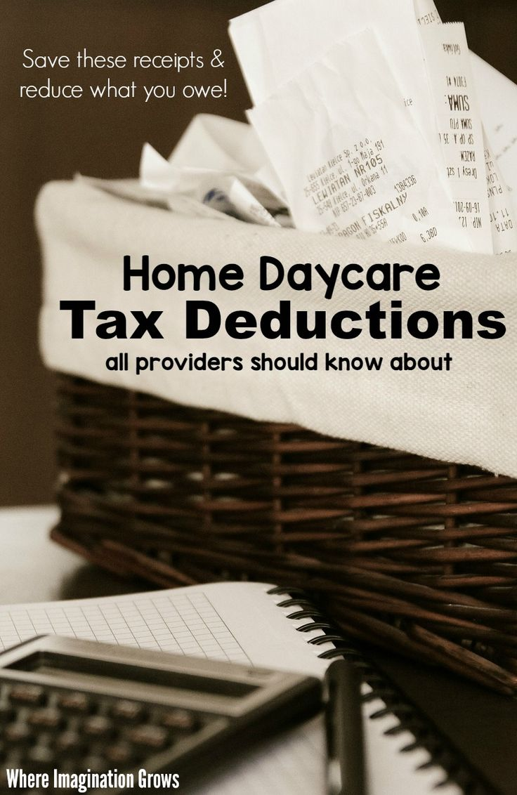 Common home daycare tax deductions for child care providers! A checklist of write-offs that is easy to follow for family child care business owners!
