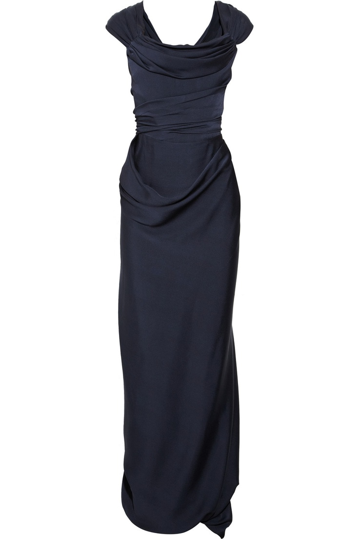 Vivienne Westwood Gold Label | Draped silk-jersey gown | NET-A-PORTER.COM