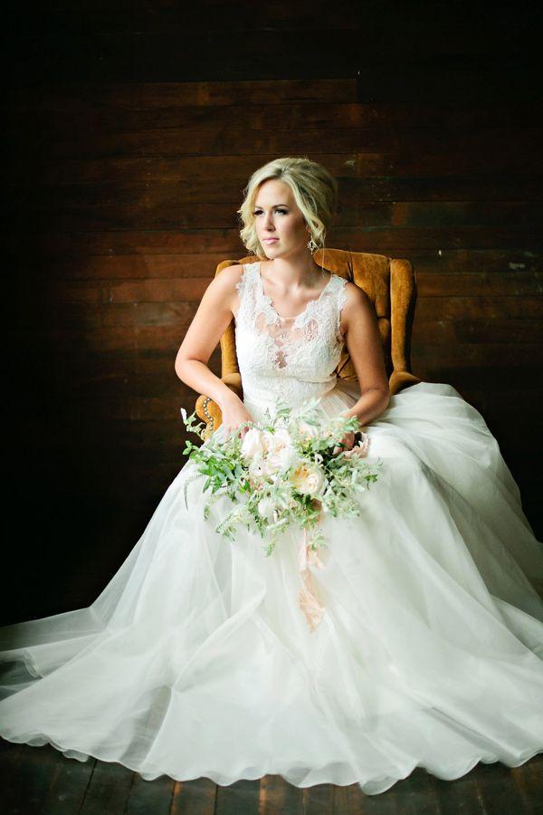 sophisticated bridal portrait, photo by Lindsey Orton Photography http://ruffledblog.com/romantic-floral-inspiration-shoot #weddingideas #weddingportraits #bridals
