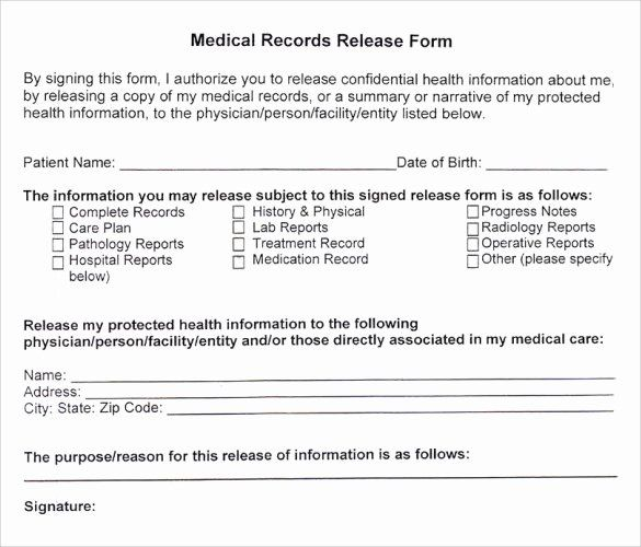 Medical Records Request Form Template In 2020 Medical Records