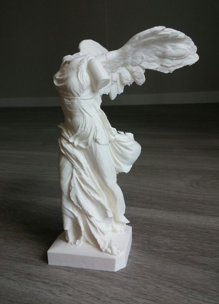 Winged Victory of Samothrace 3D print. More --> pinterest.com/cosmowenman/others-3d-prints-of-cosmo-wenmans-3d-scans/