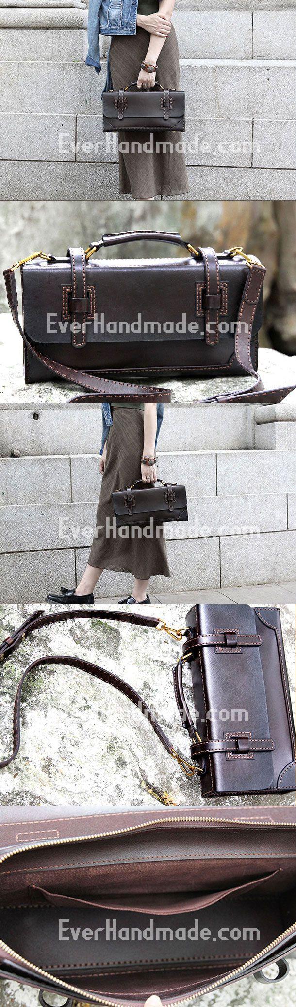 Handmade messenger bag satchel purse leather crossbody bag shoulder