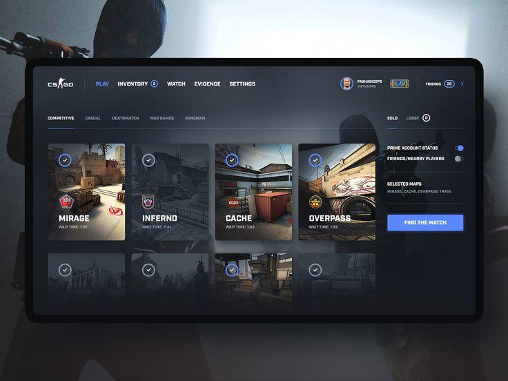 CS:GO – Game Interface Redesign Concept #1