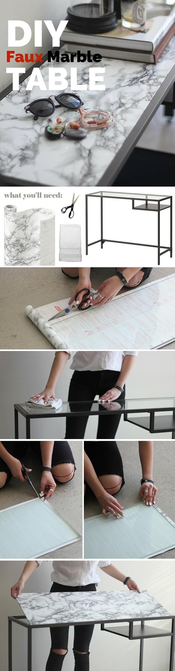 You'll need: – Marble Contact Paper – Scissors – Small hand towel – Ikea Vittsjo or any table or surface you would like to marbleize More info and instructions about this great tutorial you can find in the source url - above the photo. diyfuntips.com is a collection of the best and most creative do […]