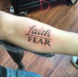 Faith over fear tattoo tatt 39 ed up pinterest faith for How bad does a wrist tattoo hurt