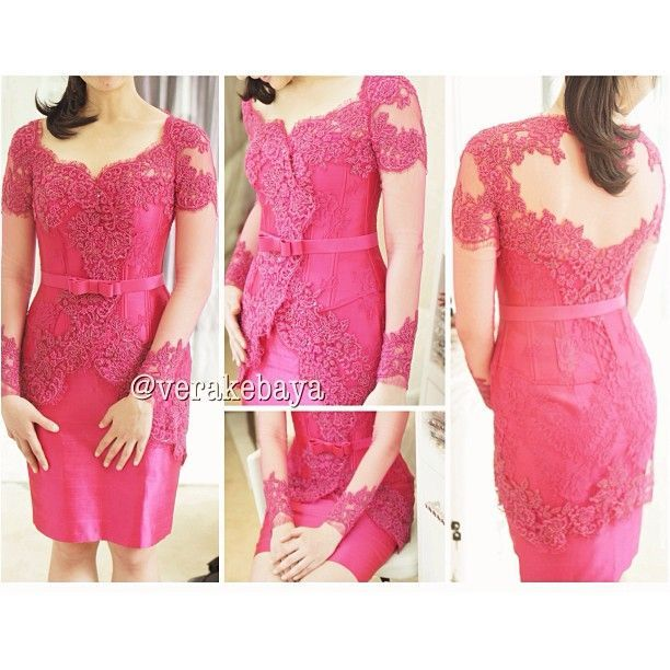 pink modern kebaya can be used for party too