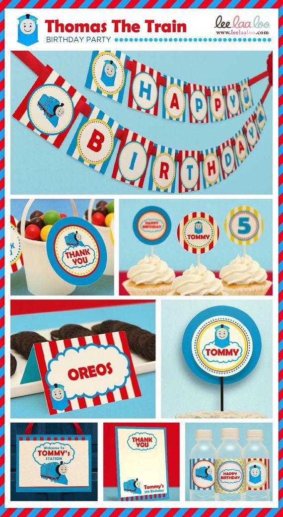 Choo Choo Thomas el tren cumpleaños fiesta paquete por petitbouh