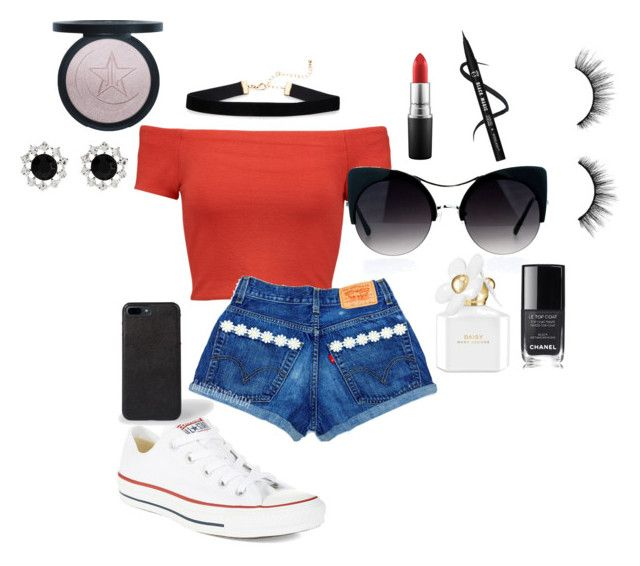 """""""Perfect summer outing outfit"""" by emilyoakley on Polyvore featuring Alice + Olivia, Converse, Marc Jacobs, MAC Cosmetics, tarte, Chanel and Accessorize"""