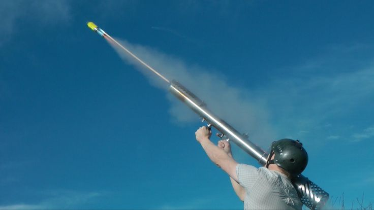 Inventor Colin Furze Blows His Socks Off With His Homemade Fireworks Rocket Launcher