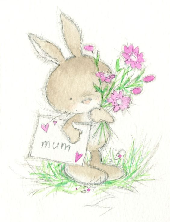 Картинки миша, открытки с зайками на день рождения
