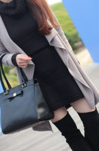 black-over-the-knee-boots-halogen-cashmere-long-drape-front-cardigan-turtleneck-sweater-dress